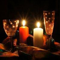 бокалы и свечи :: Nika Goncharova