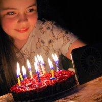 Оля.Селфи в день рождения :: Валерий Талашов