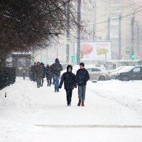 Зима. Снегопад в городе. :: # fotooxota