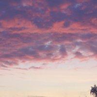 Отражение восхода в облаках. :: сергей