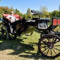 Ландо и кучер...лошадки на подходе ! :) :: Анатолий Колосов