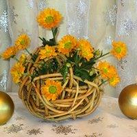 Букетик из хризантем в новогоднем настроении :: Надежд@ Шавенкова