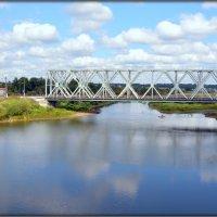 Река Вопь и железнодорожный мост :: Михаил