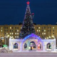 Ледовый городок в Ухте. :: Николай Зиновьев