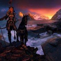 Бригита богиня войны :: irina Schwarzer