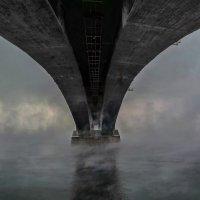 Красноярский мост через Енисей,вид с низу :: Анатолий Володин