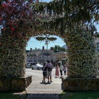Одна из 4-х арок изготовленная из рогов в г. Джексон, штат Вайоминг :: Юрий Поляков