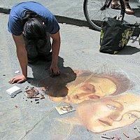 По Италии. Флоренция. Художество на тротуаре. :: Владимир Драгунский