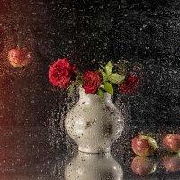Розы с яблоками :: Евгений Кирюхин