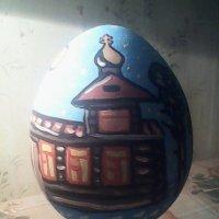 Моя роспись: деревянная церковь зимой. :: Светлана Калмыкова