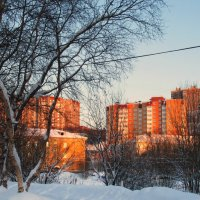 Оранжевое солнце, оранжевые дома.... :: Анна Приходько
