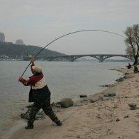 Бросок рыболовных мушек от 120м :: Олег