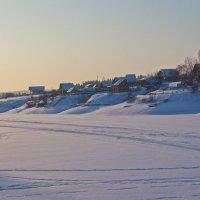 Зима на берегу залива :: val-isaew2010 Валерий Исаев