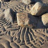 Следы на песке - волноприбойные знаки :: Сергей Курников