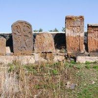 Армения.Древние хачкары в монастыре Севанаванк :: Galina Leskova