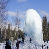 Ледяной фонтан в Национальном парке Зюраткуль Челябинской области :: Зинаида Каширина