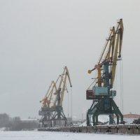 Краны в зимнем порту :: OlegVS S