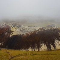 Туманное утро...Кратер Граброк.Исландия! :: Александр Вивчарик