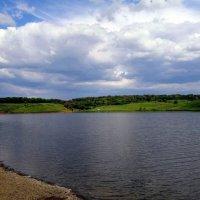 Шахты. Вид на левый берег Грушевского водохранилища. :: Пётр Чернега
