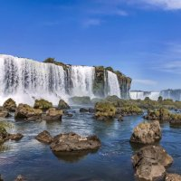 Каскад водопадов Игуасу. вид с территории национального парка Бразилии :: Svetlana Galvez