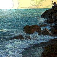 Рыбак на скале. :: Штрек Надежда