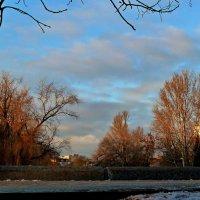 Закатное небо над парком... :: Лидия Бараблина