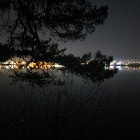 Ранняя ночь над оз. Ломпадь :: Анатолий Кувшинов