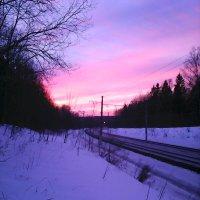 Морозный закат :: Вероника Камилова