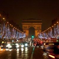 Елисейские поля во время Рождества :: Георгий А
