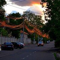 Провода в лучах заходящего солнца. :: sokoban