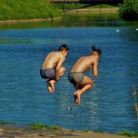 Синхронный прыжок... :: Sergey Gordoff