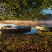 Утро на реке Дубне. :: Виктор Евстратов