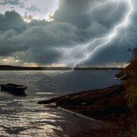 Река Онега, сентябрь. :: Валентин Кузьмин