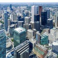 Небоскрёбы Торонто. Вид с обзорной площадки телебашни CN Tower :: Юрий Поляков