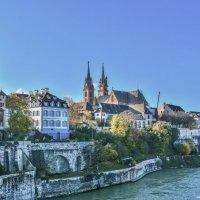 Кафедральный собор Базеля на набережной Рейна :: Eldar Baykiev