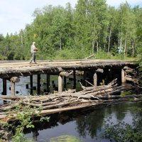 На мосту через р. Кым... :: Александр Широнин