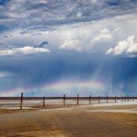 Радуга над солёной пустыней. :: Александр Афромеев