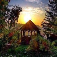 Утро в деревне на Чусовой. :: Пётр Сесекин