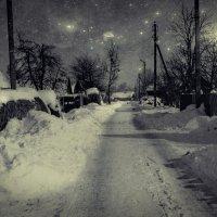 Зима на деревенской улице (№ 2) :: Глeб ПЛATOB
