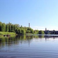 Река Теза. Октябрьский мост. :: Сергей Пиголкин