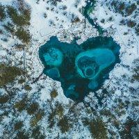 гейзерное озеро Алтай зимой сверху :: Юрий Лобачев