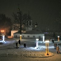 Новогодний снегопад :: Андрей Зайцев