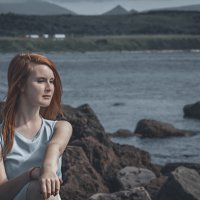 девушка на берегу моря :: Яна Пикулик