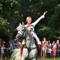 Кремлевская школа верховой езды в Воронцово. Юлия Калинина и ее конь Живописный. :: Наташа *****