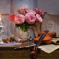 Вьюга белую скрипку достала... :: Валентина Колова