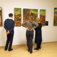 В Брянске в выставочном зале прошла выставка с иллюстрациями картин Босха и Брейгеля :: Евгений