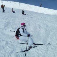гора подождет пока лыжница отдохнет. :: Серж Поветкин