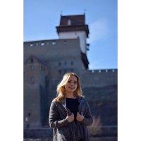 Девушка на фоне Эстонской крепости :: Ульяна Гончарова