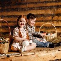 Пасхальная фотосессия с кроликами :: Валерий Фролов