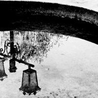 Отражение  в  фонтане -  фонарное... :: Евгений